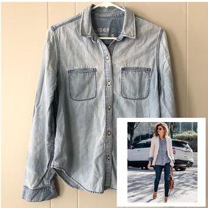 Gap | Chambray Cotton Shirt szS